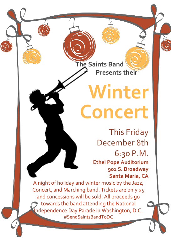 Dec. 8 ' Saint's Christmas Concert