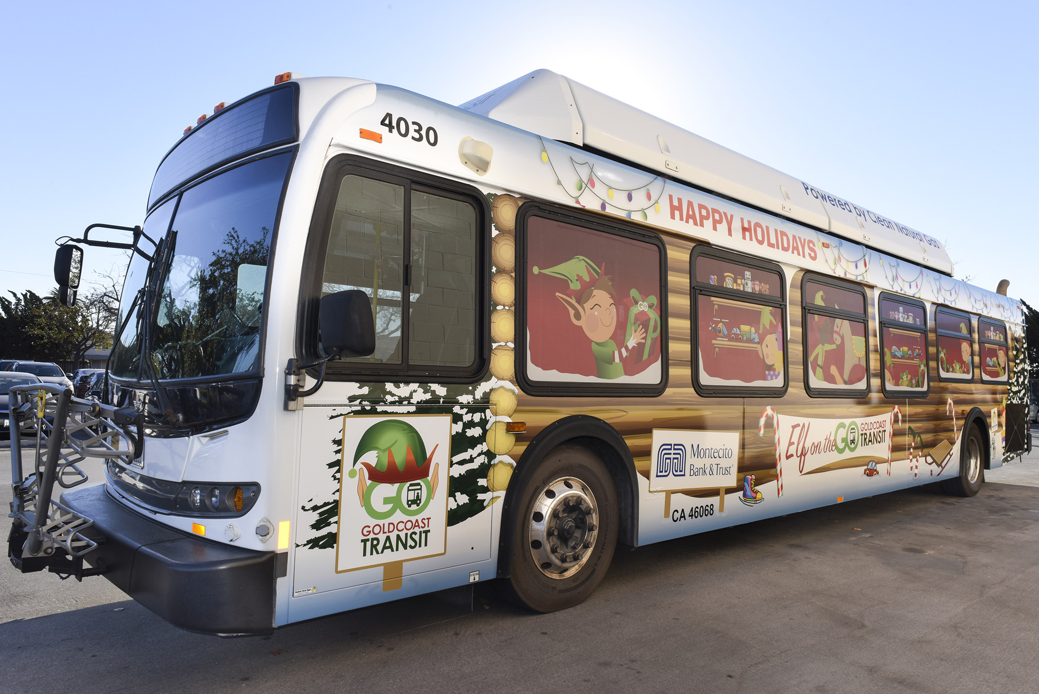 Through Dec. 31 — Ride Gold Coast Transit District's decorated holiday bus