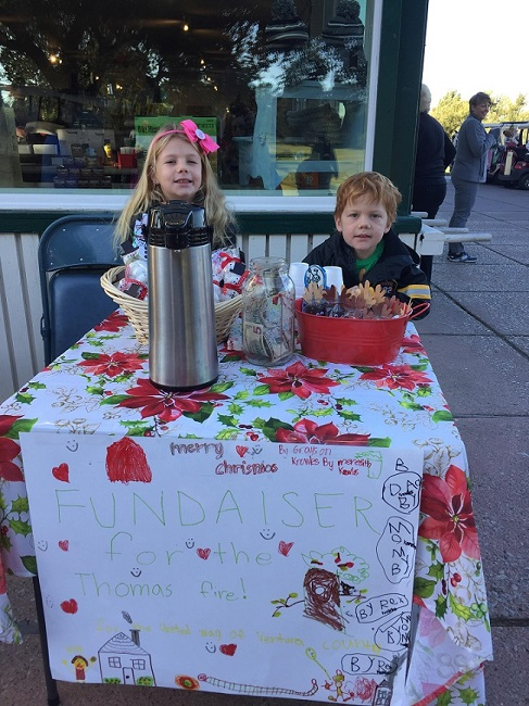 7-year-old Raises $350 from Cocoa Stand for Thomas Fire Victims