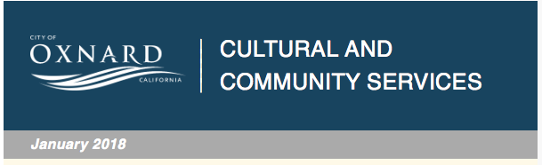 City of Oxnard Cultural and Community Services update for Jan. 5
