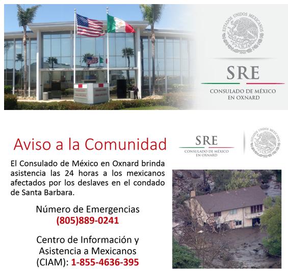 El Consulado de Mexico en Oxnard brinda asistencia las 24 horas a los mexicanos afectados por los deslaves en el condado de Santa Barbara