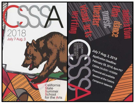 32nd Session of the California State Summer School for the Arts (CSSSA) seeks teen artists, writers, and performers