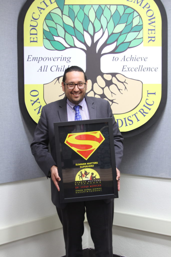 OSD Superintendent Recognized as Superhero