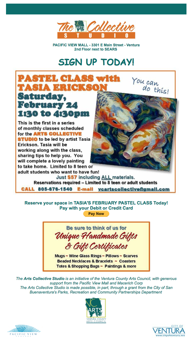 Feb. 24 — The Arts Collective Studio to present 'Pastel Class with Tasia Erickson'