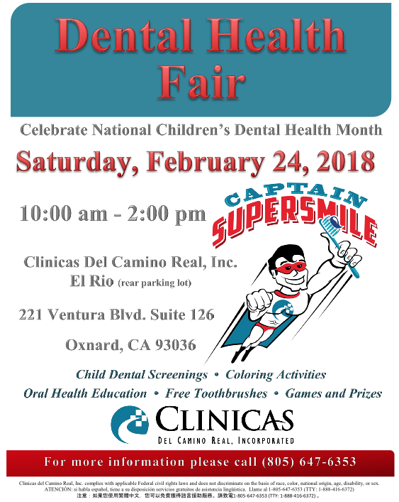 Bilingual report: Clinicas Del Camino Real Inc. is hosting a Dental Health Fair on Feb. 24 in honor of National Children's Dental Health Month