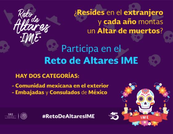 Consulado de México en Oxnard: Participal en el Reto de Altares IME