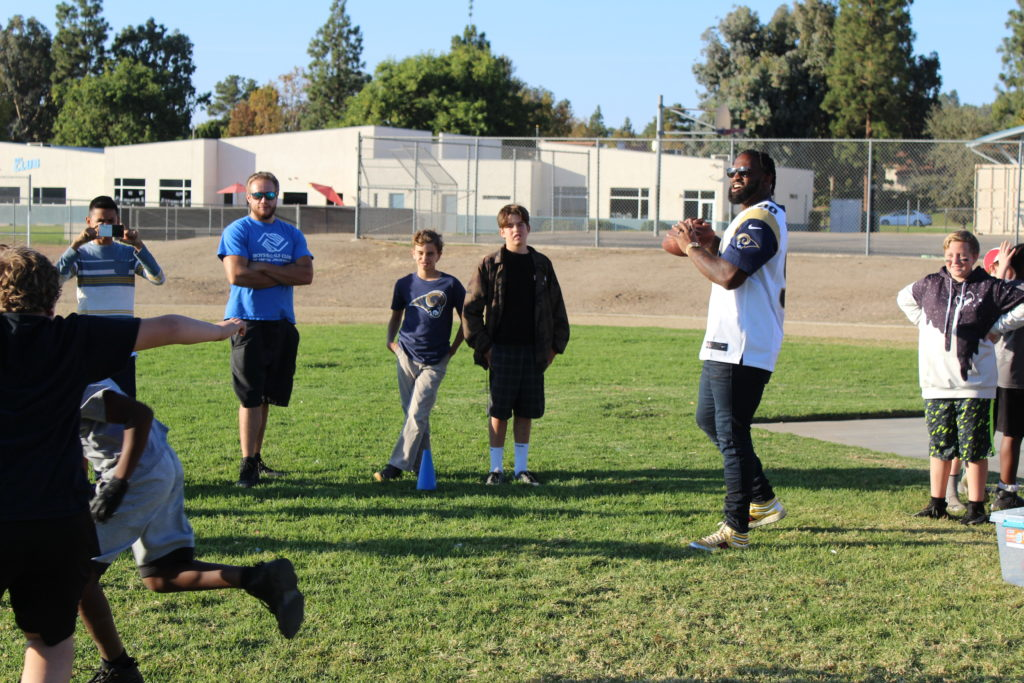 Boys & Girls Clubs of Greater Conejo Valley Welcome Visits from the LA Rams