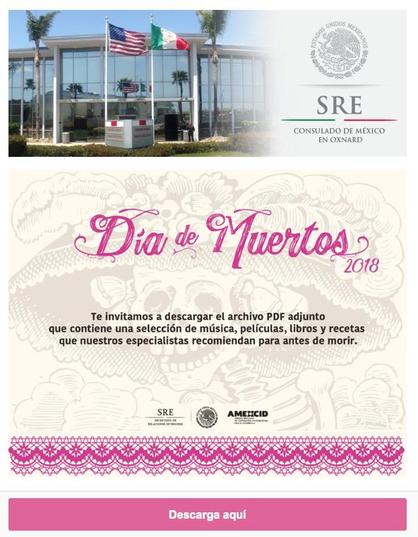 Consulado de Mexico en Oxnard — Día de los Muertos 2018