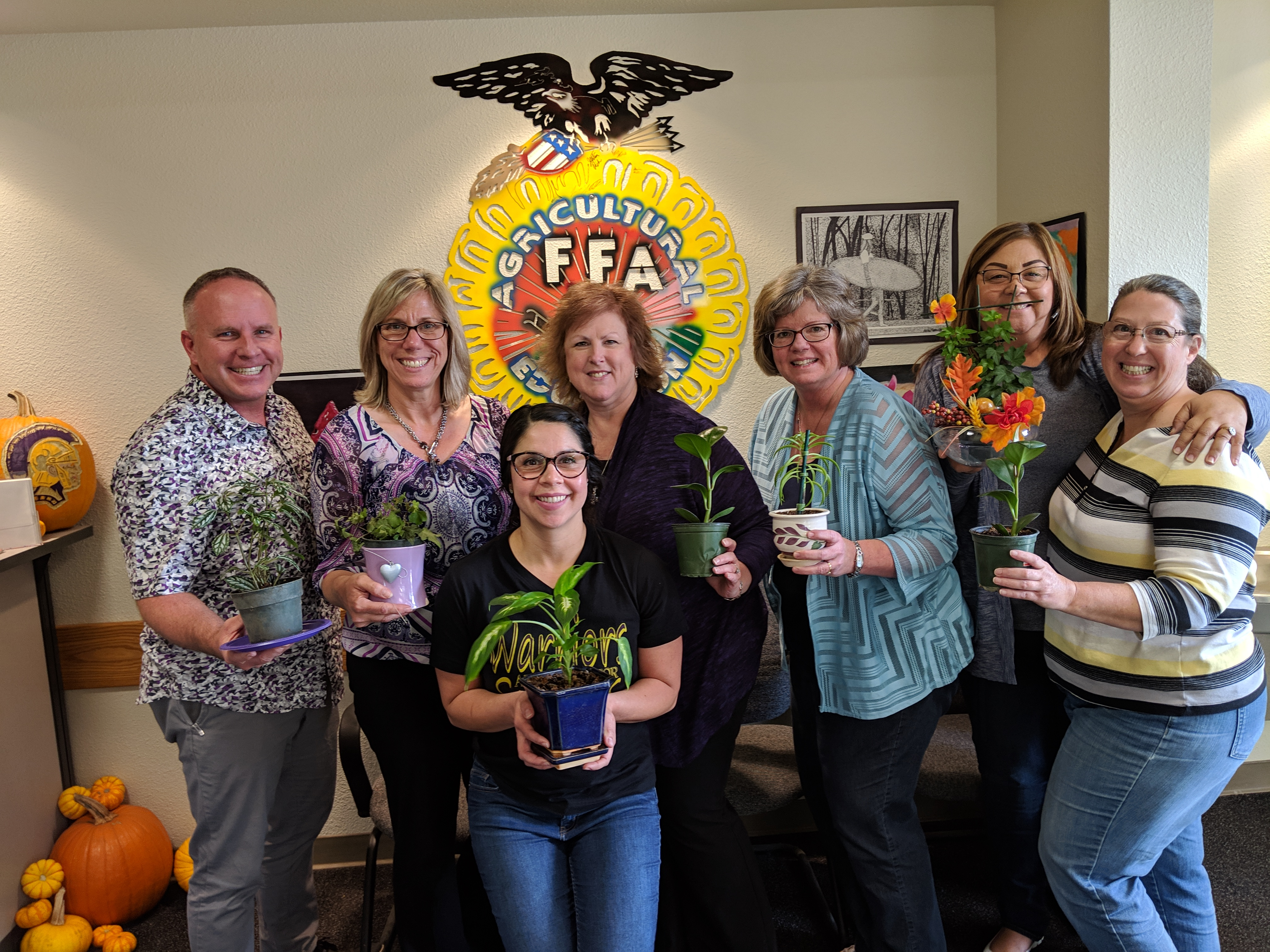 """Righetti Agriculture Department recently began their 2nd Annual """"Green Thumb"""" House Plant Competition"""