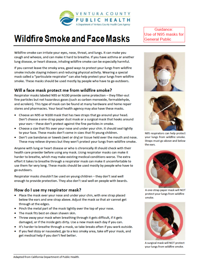 Bilingual report: Wildfire smoke and face masks being distributed in Ventura County