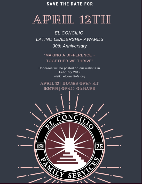 Save the Date: El Concilio Family Services to present 30th annual 'Latino Leadership Awards'