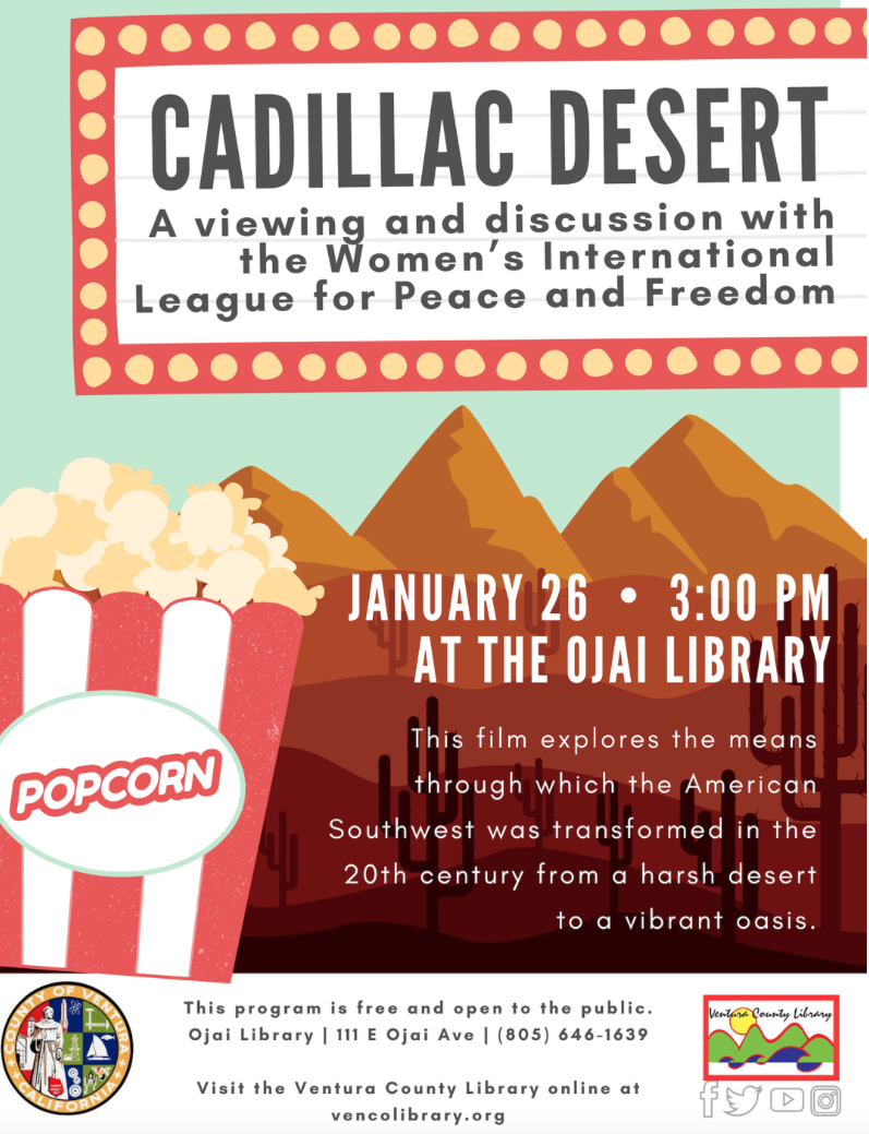 Jan. 26 — Documentary 'Cadillac Desert: Water and the Transformation of Nature' to be presented at Ojai Library