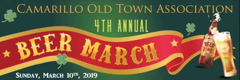 March 10 — Camarillo Old Town Association's 4th Annual Beer March Pairs Over 20 Craft Breweries with Downtown Businesses on March 10th for a Fun Community Day