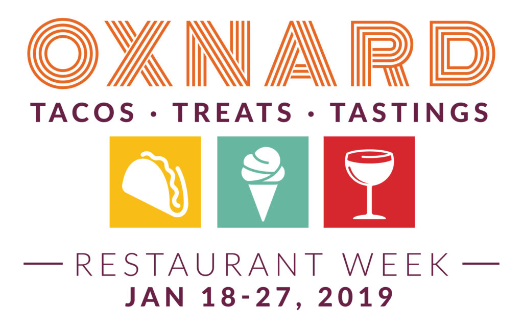 """Bring Your Appetite and Head to Oxnard …. Oxnard Restaurant Week 2019 """"Tacos, Treats & Tastings"""" Takes Place Jan. 18-27"""