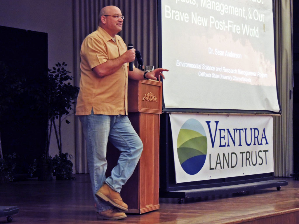 March 7 — Dr. Sean Anderson returns to Ventura to present free environmental lecture 'California's Year-Round Wildfire Season – The New Abnormal'