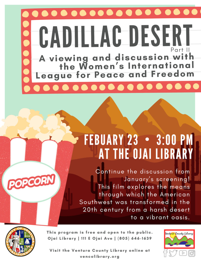 Feb. 23 — Ojai Library to present 'Cadillac Desert: Part II'