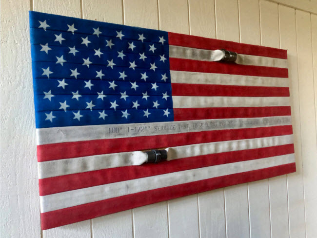 Retired Firefighter Creates Fire-hose Flags to Support Ventura and Santa Barbara Veterans and First Responders