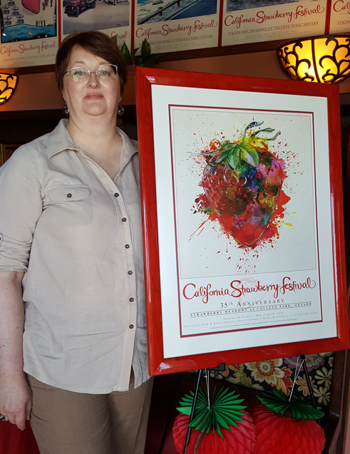 California Strawberry Festival Wins 1st Place In CalFest Poster Contest