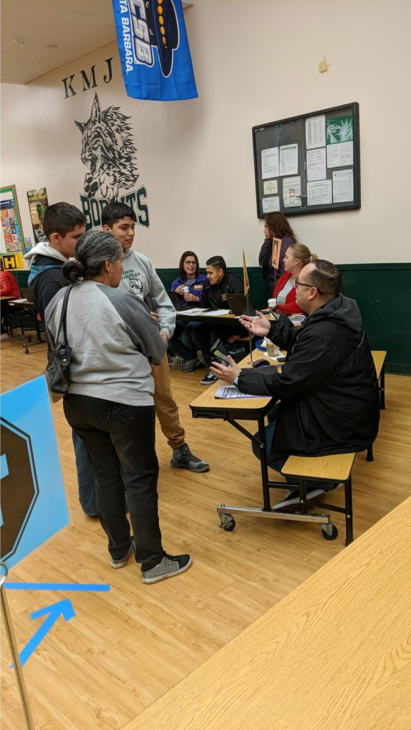 Righetti High School Counselors help incoming Guadalupe students