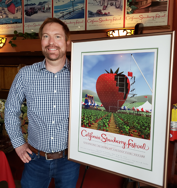 Aaron Trask Wins 36th Annual California Strawberry Festival Official Poster Contest