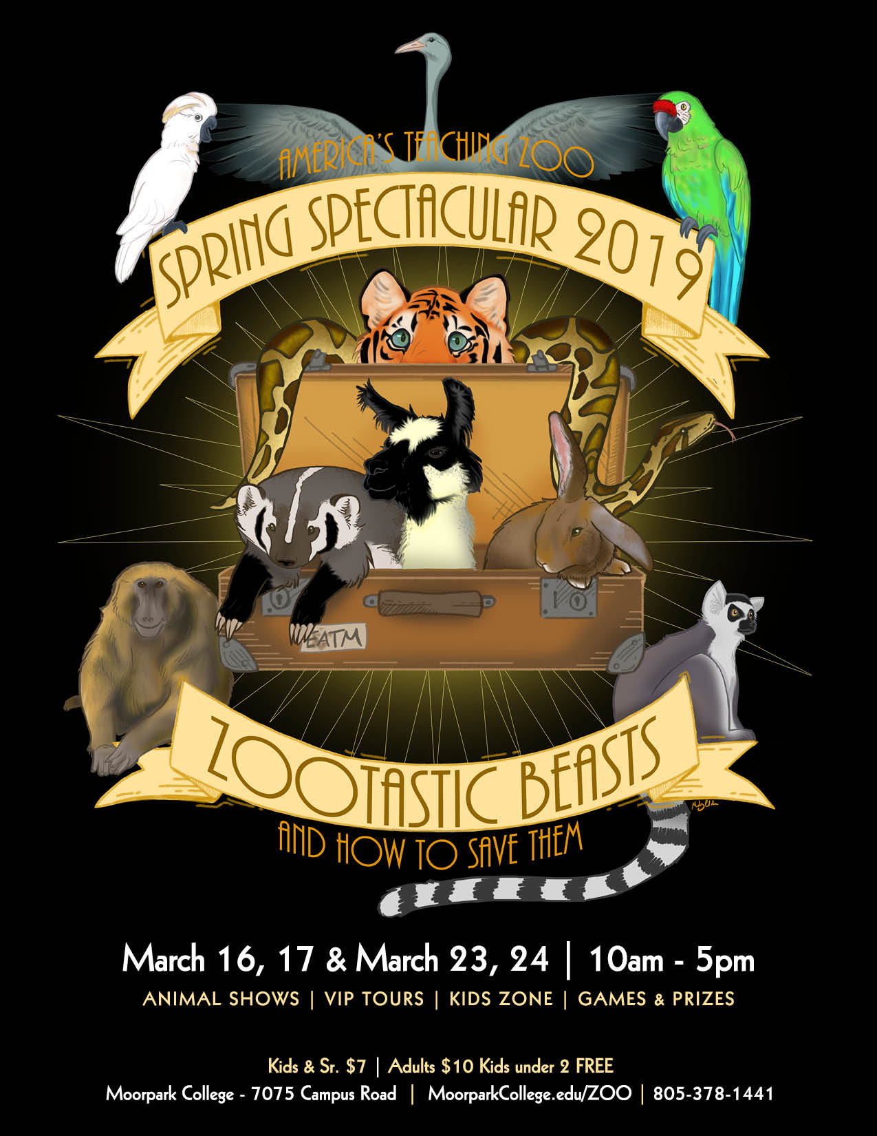 March 23 — AMERICA'S TEACHING ZOO AT MOORPARK COLLEGE to Host its Annual Spring Spectacular