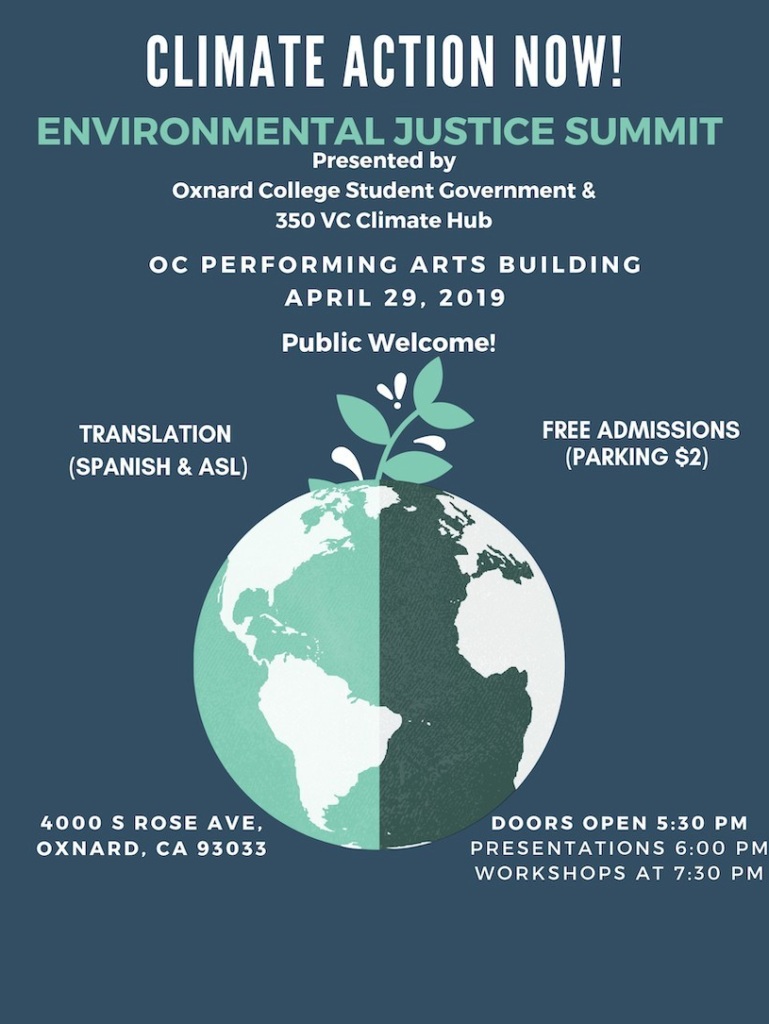 April 29 — Oxnard College to host 'Climate Action Now — Environmental Justice Summit'