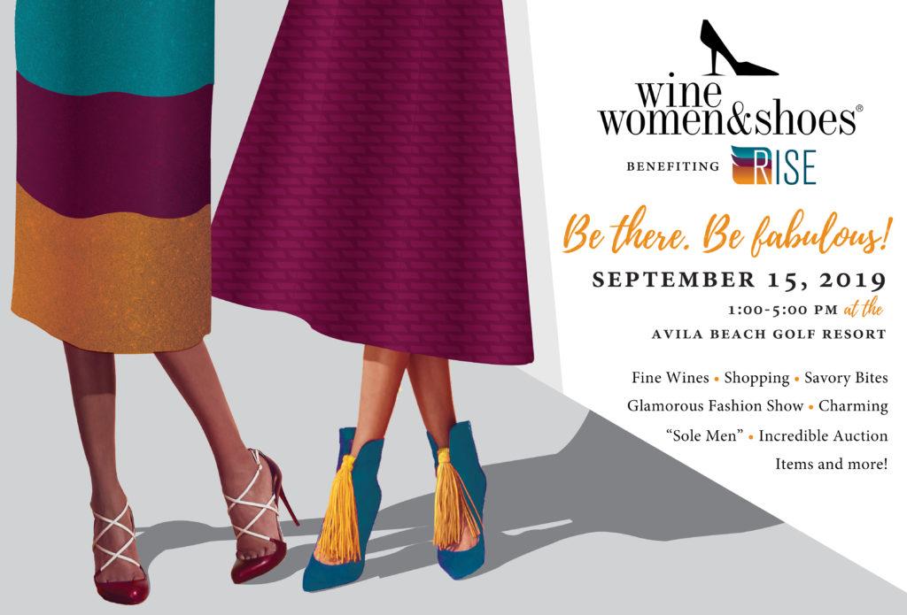 Sept. 15 — SLO RISE announces 2019 Wine Women & Shoes Tickets on Sale