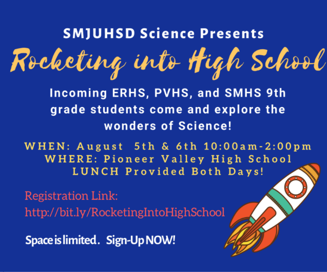 Bilingual report — SMJUHSD Science presents 'Rocketing into High